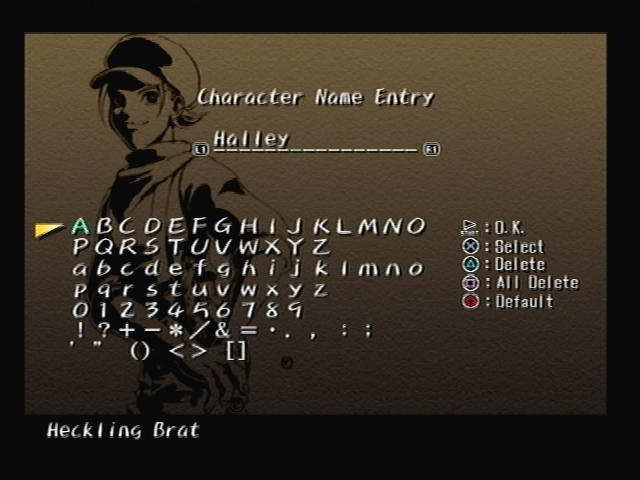Halley Brancket Shadow Hearts Name