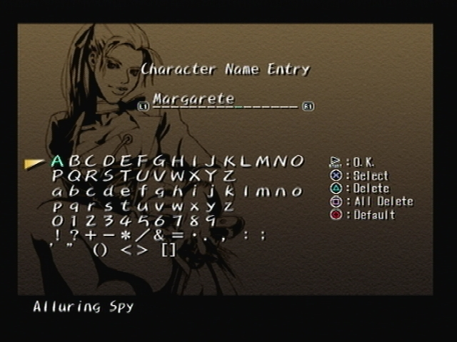 Margarete Gertrude Zella Name Shadow Hearts