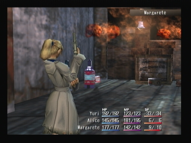 Margarete Attacking Shadow Hearts