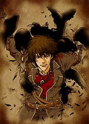 Yuri Hyuga Official Art Shadow Hearts