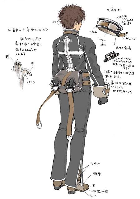 Yuri Shadow Hearts Covenant Concept Art Back