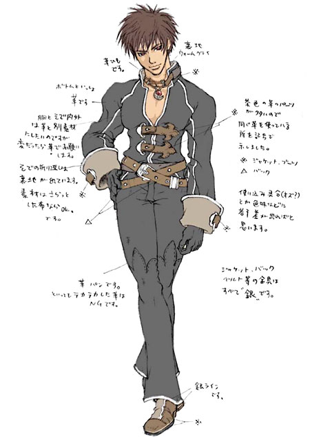 Yuri Shadow Hearts Covenant Concept Art