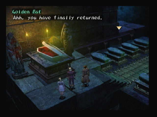 Golden Bat Blue Castle Shadow Hearts