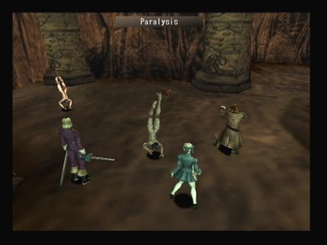 Sin using Paralysis Shadow Hearts