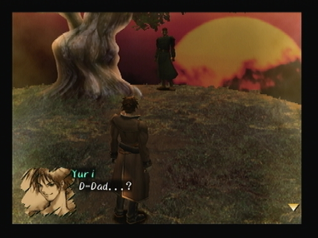 Yuri and Col Hyuga Graveyard Shadow Hearts