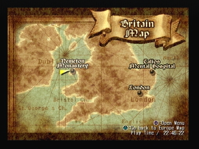 Nemeton Monastery Shadow Hearts Map