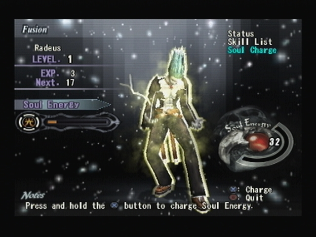 Radeus Powering Up Shadow Hearts Covenant